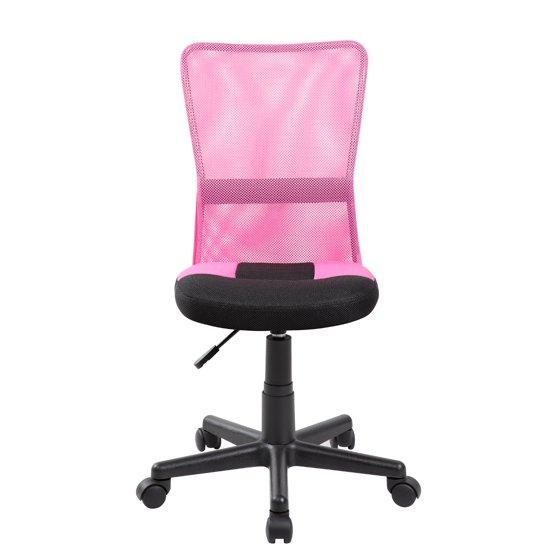 Mid-back Adjustable Ergonomic Pink&Black Mesh Swivel Computer Office ...
