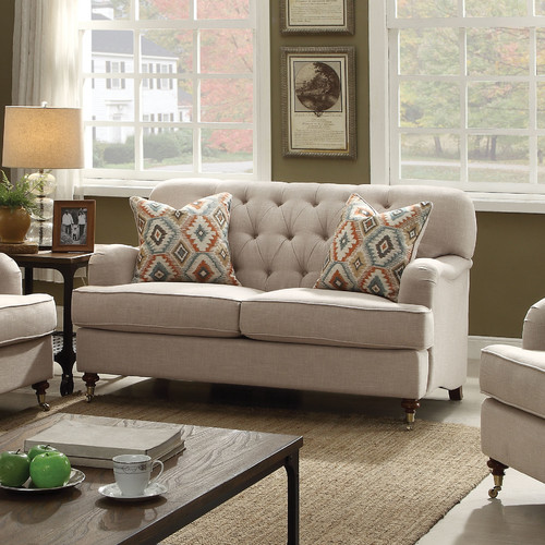 ACME Alianza Loveseat with 2 Pillows in Multiple Colors