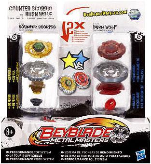 Beyblade Metal Masters Counter Scorpio vs. Burn Wolf 2-Pack B-118