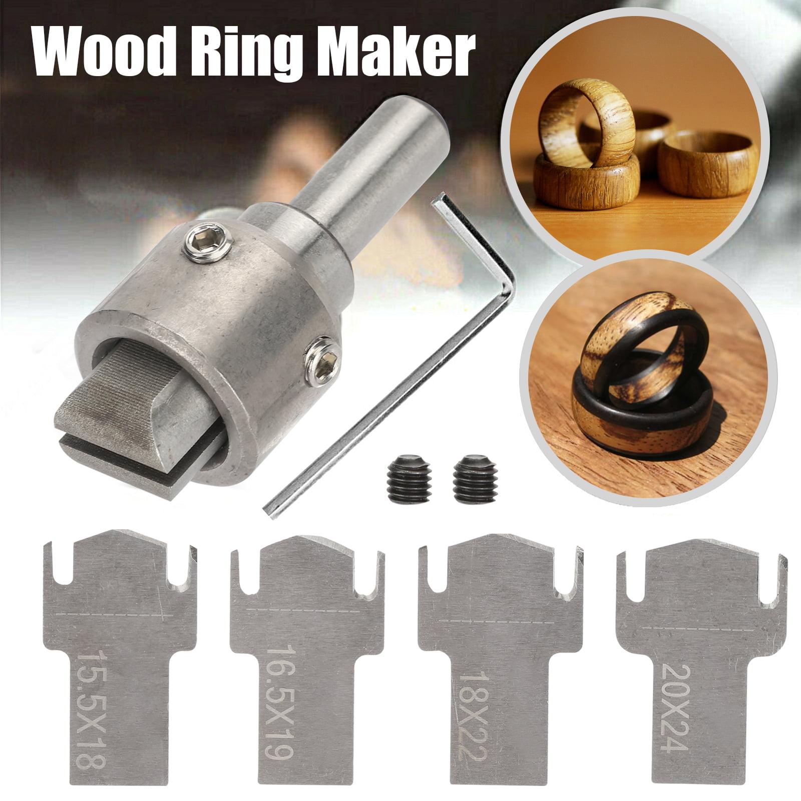 6pcs//set Ring Maker Wooden necklace beads pendants bracelet Thick Ring Drill Bit