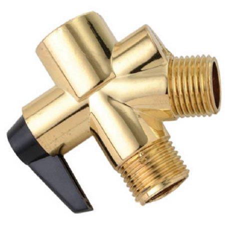 Polished Brass Shower Flow Diverter, Delta, 345-520