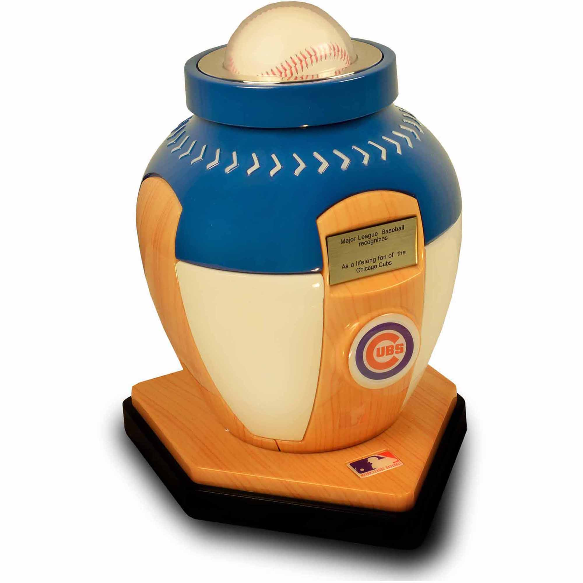 Official Major League Baseball Cremation Urn For Human Ashes   Chicago Cubs    Walmart.com