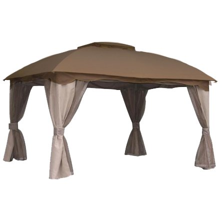 garden winds replacement canopy top for 12 x 10 roof style gazebo sunbrella. Black Bedroom Furniture Sets. Home Design Ideas