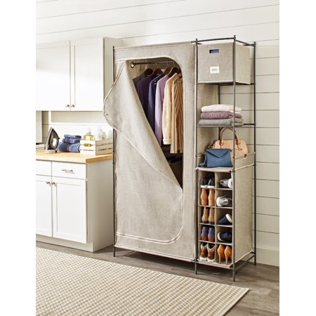 Better Homes & Gardens® Wardrobe Closet, Charleston, Gunmetal Frame
