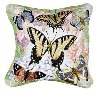 - Butterflies are Free Decorative Tapestry Toss Pillow USA Made