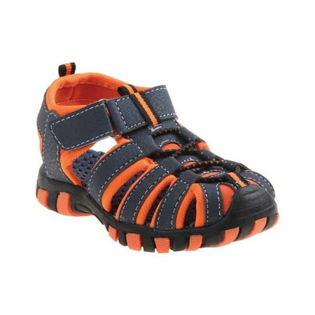 rugged bear little boys blue orange fisherman athletic sandals 10