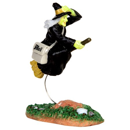 Lemax 42208 AIR MAIL Spooky Town Figurine Halloween Decor Witch Broom Figure - Air Max 95 Halloween