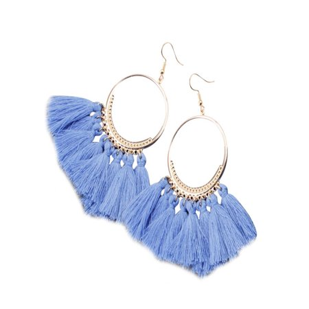 Women Ethnic Bohemia Drop Dangle Long Rope Fringe Earings Fashion Girl Tassel Earrings