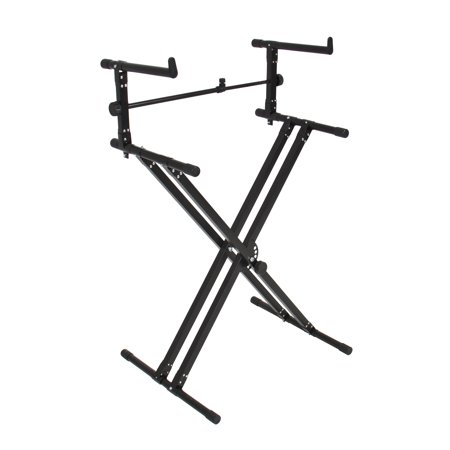 Best Choice Products 2-Tier X-Style Adjustable Dual Electronic Piano Keyboard Stand -