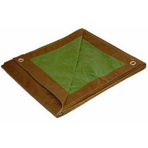 Cwc Regular-Duty Tarp, Brown/Green