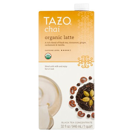 Spiced Chai Latte ((3 Boxes) Tazo Organic Chai Latte Concentrate Black tea 32)