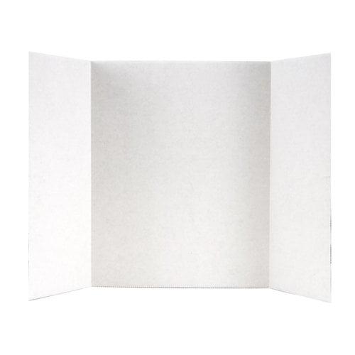 "Elmer's TriFold White Corrugate Display Board, 14"" X 22"