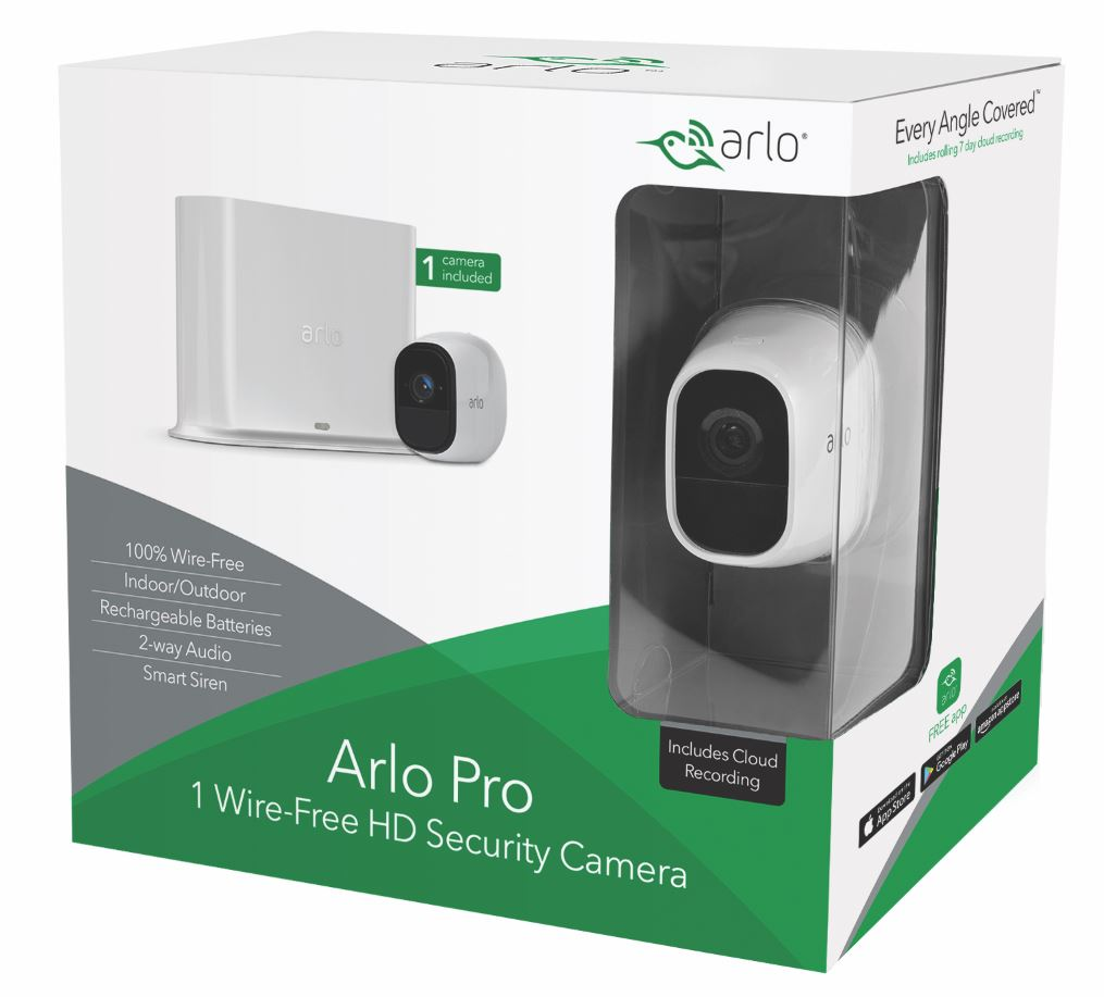 Arlo Pro 720P HD Security Camera System VMS4130 - 1 Wire-Free Rechargeable Battery Camera with Two-Way Audio, Indoor/Outdoor, Night Vision, Motion Detection