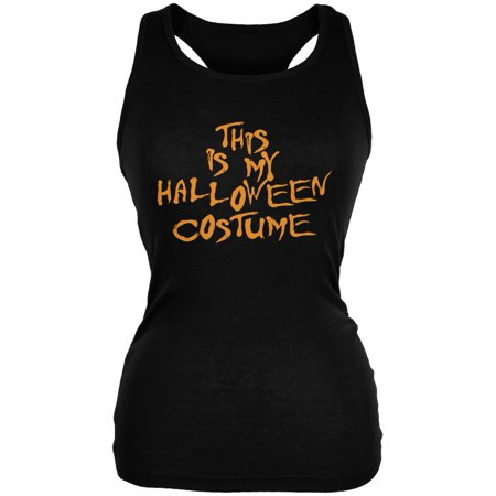 My Funny Cheap Halloween Costume Black Juniors Soft Tank Top (Funny Double Acts For Halloween)