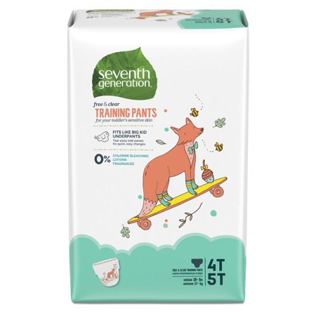 Seventh Generation Free & Clear Size 4T/5T (XL), 38+ lbs Potty Training Pants, 17