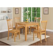 East West Furniture OXAN5-OAK-W 5 Piece Kitchen Table-Square Table and 4 Kitchen Chairs