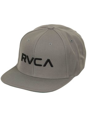 03aa0ccdacf Product Image RVCA Mens Twill Mid Fit Snapback Hat - Pavement Gray Black