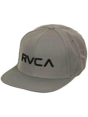 72da1514943 Product Image RVCA Mens Twill Mid Fit Snapback Hat - Pavement Gray Black