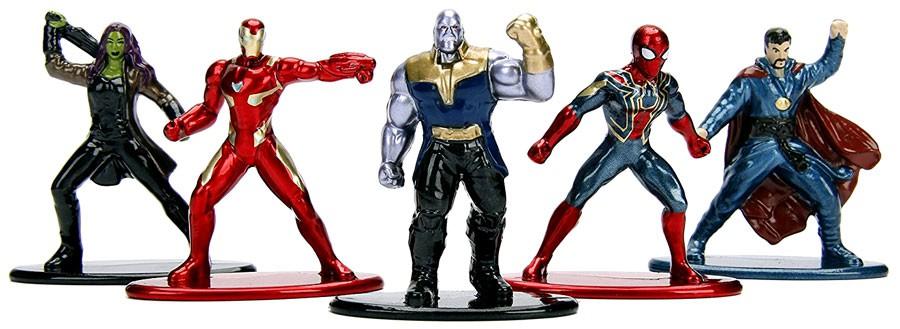 Jada Nano Figures Marvel Guardians Spiderman Ironman 20 Pack
