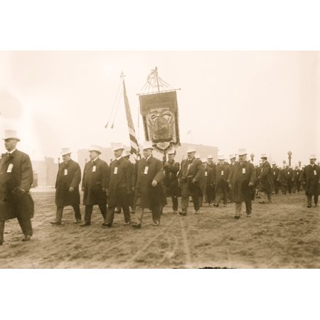 Taft Inaugural Parade JG Blaine marching before Young Mens Club of Cincinnati Washington DC Poster