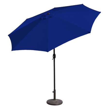 Budge 9ft Aluminum Patio Umbrella with Crank Lift and Tilt Function ()