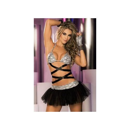 Five Piece Flirty Bra Set 2246 by Espiral Black/White