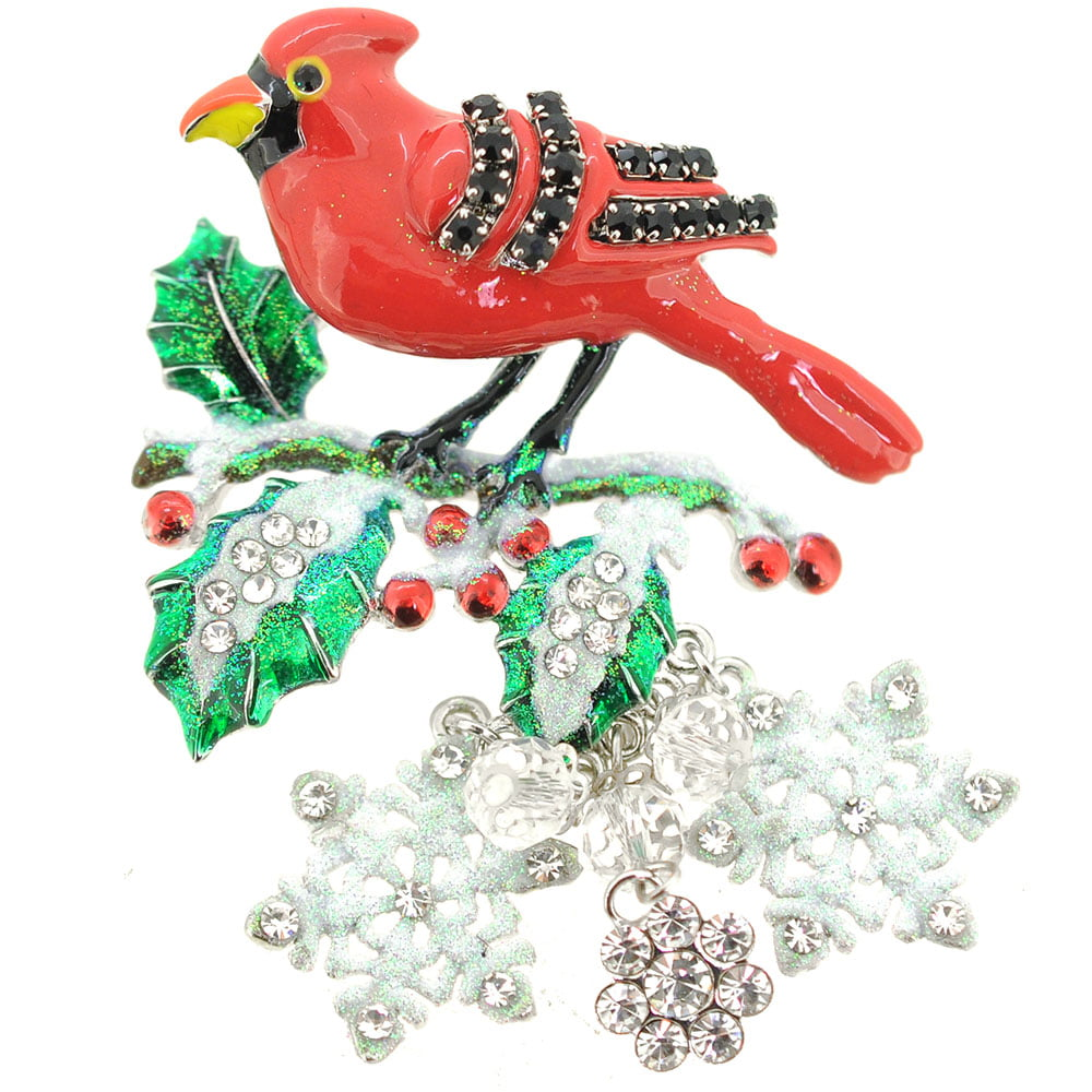 cardinal bird christmas ornament pin brooch walmartcom