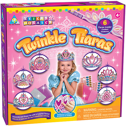 The Orb Factory Sticky Mosaics Kit, Twinkle Tiaras