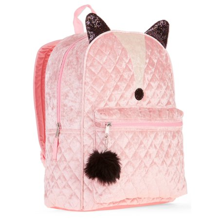 Dance Quilted Backpack - Fox Quilted Velvet Backpack
