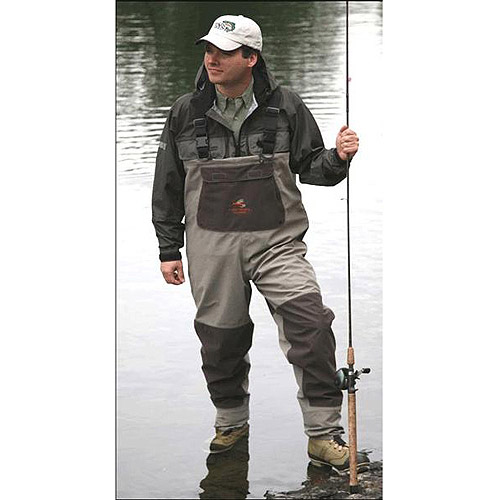 Caddis Systems Northern Guide Heavy-Duty Stocking Foot Wader, Tan Brown by Generic