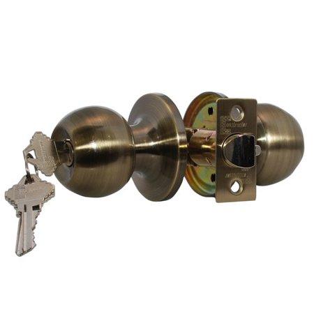 Constructor Chronos Entry Door Knob Handle Lock Set Antique Bronze Finish