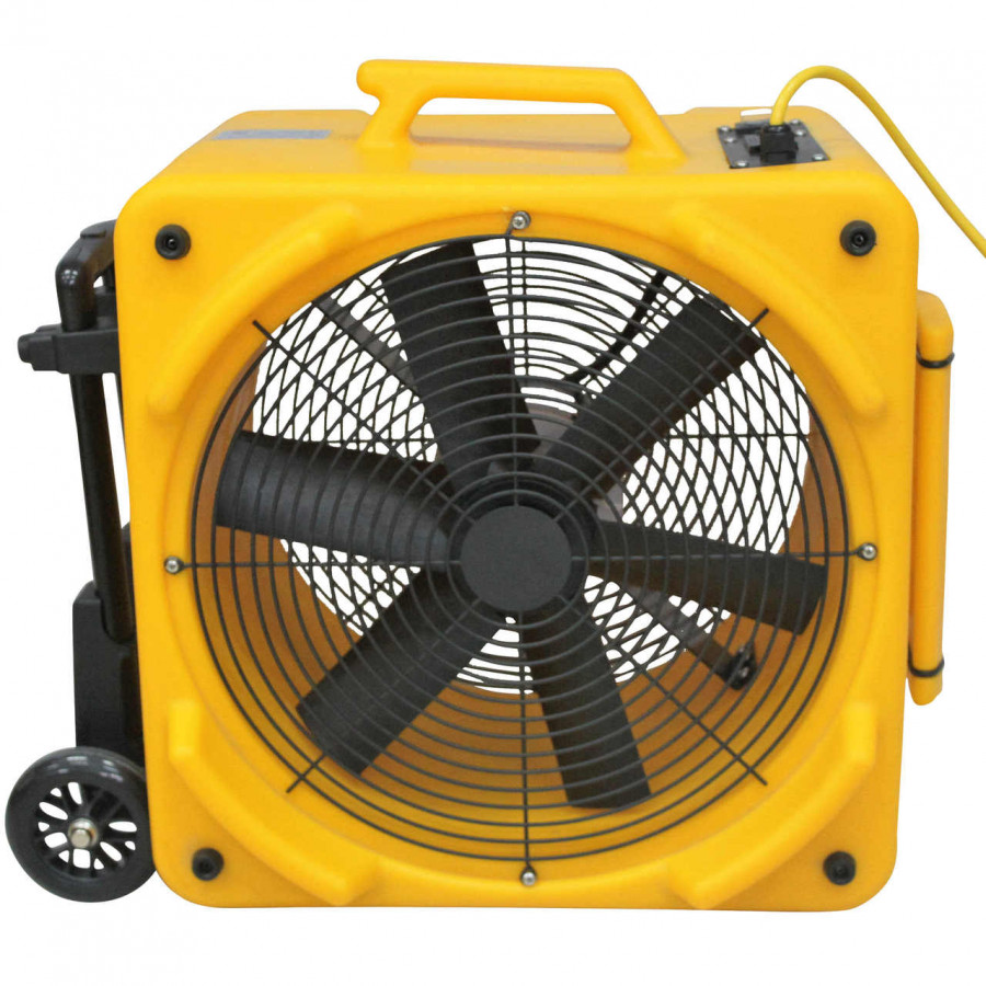 Zoom 1/4 HP Dual Speed Axial Ventilation Air Blower Fan with Handle, Wheel Kit and 25 Foot Power Cord