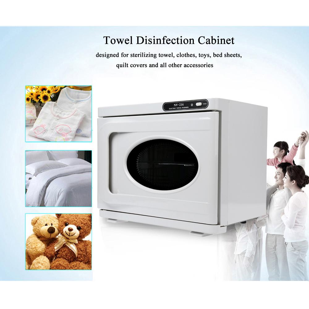 Anself Mini Towel Sterilizer Cabinet UV Sterilizing Warmer Nail Beauty Salon Spa