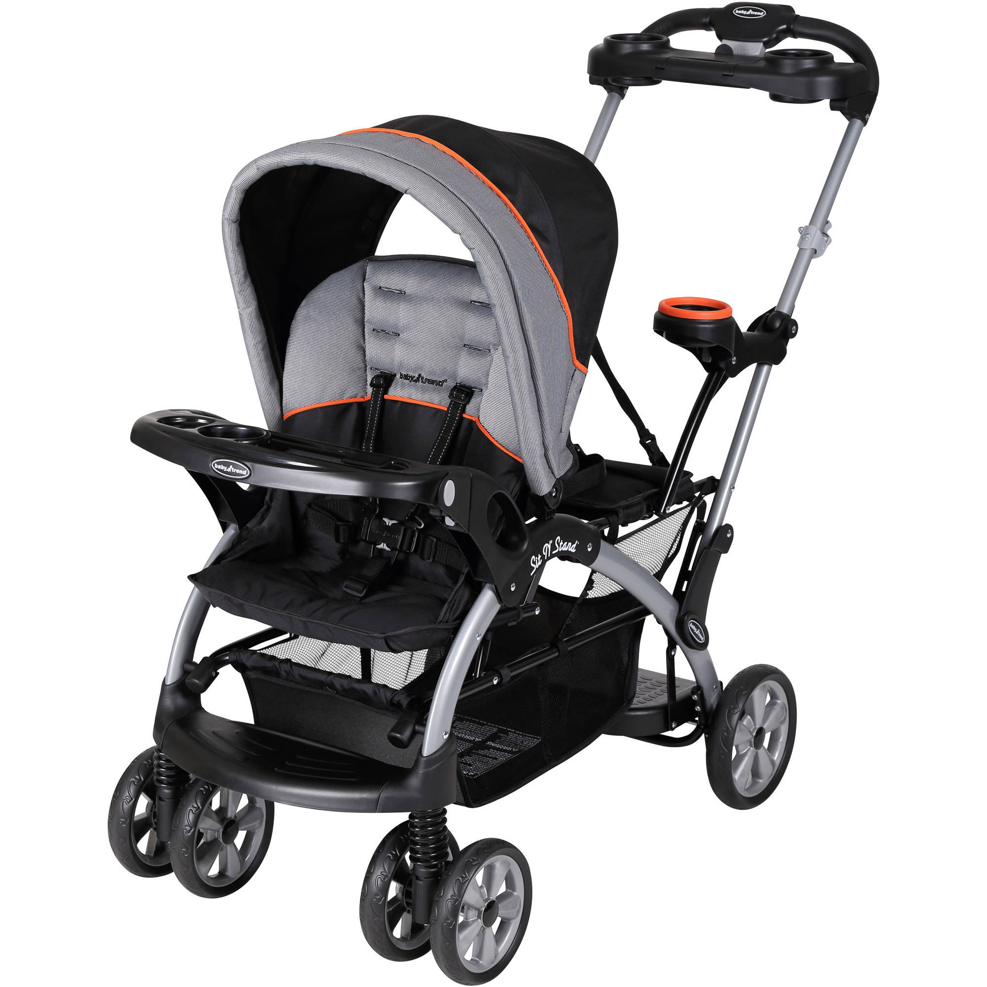 Baby Trend Sit 'N Stand Ultra Double Stroller, Millennium Orange ...