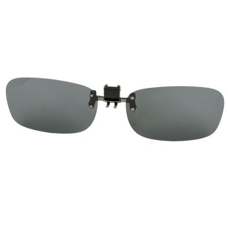 Unique Bargains5.8cm x 3.5cm Gray Lens Flip Up Clip On Polarized Sunglasses for Men Women ()
