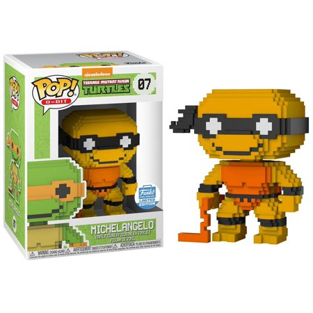 Teenage Mutant Ninja Turtles Funko POP! 8-Bit Neon Michelangelo Vinyl Figure - Michelangelo Nunchucks Toy