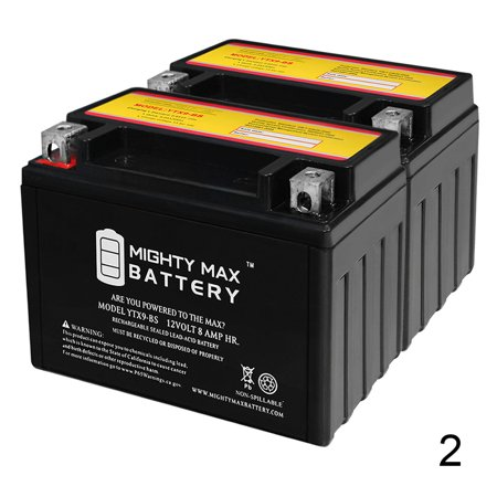 YTX9-BS SLA Battery for Triumph 675 Street Triple, R 09-13 - 2 Pack