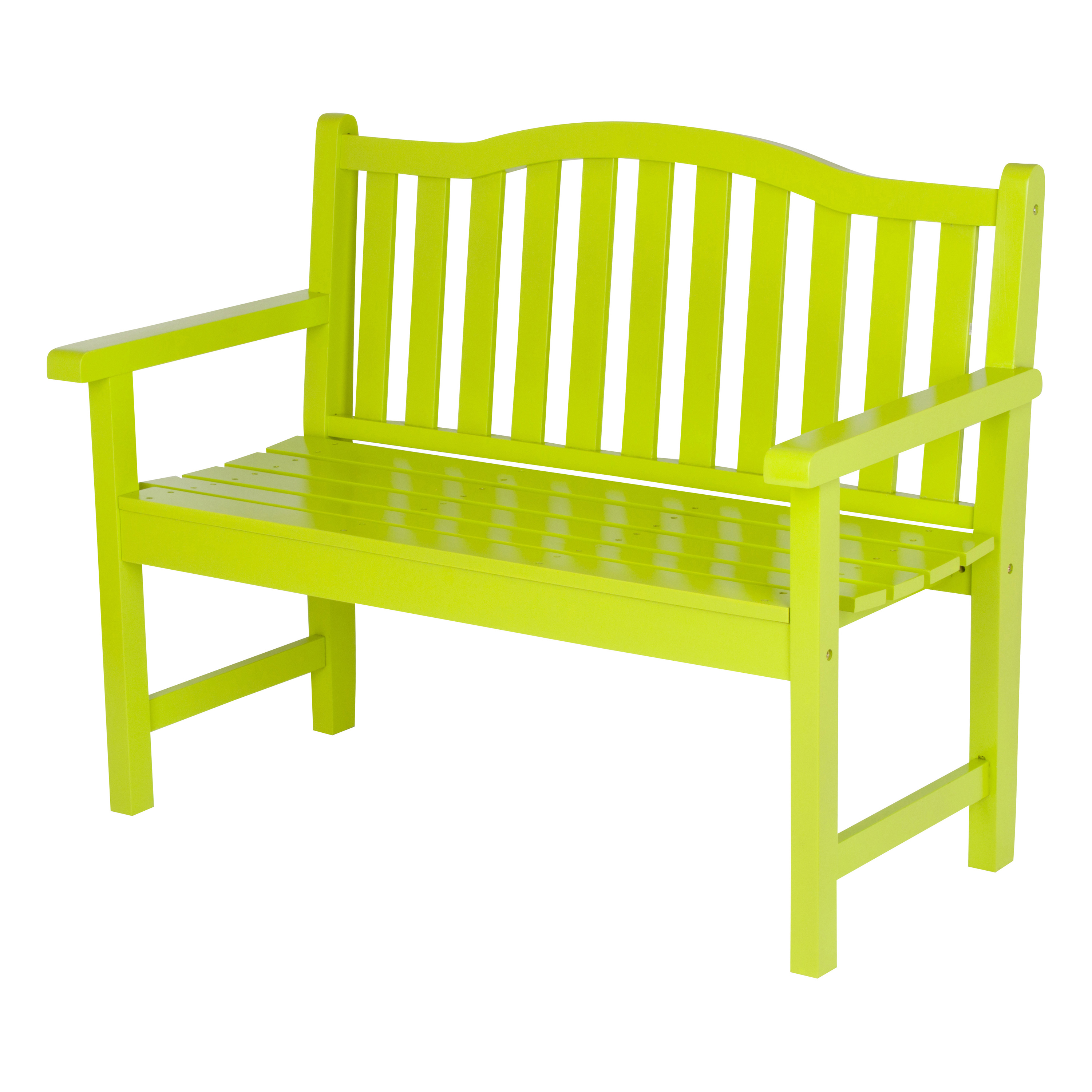 Shine Company Belfort Garden Bench - Lime Green