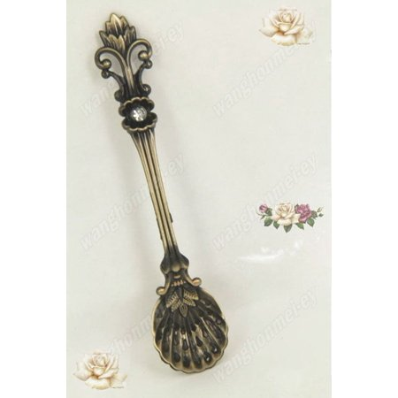 Tea Coffee Dessert Ice Cream Spoons Teaspoon Stainless Steel Cutlery Spoons New Brass Bronze - image 2 of 4
