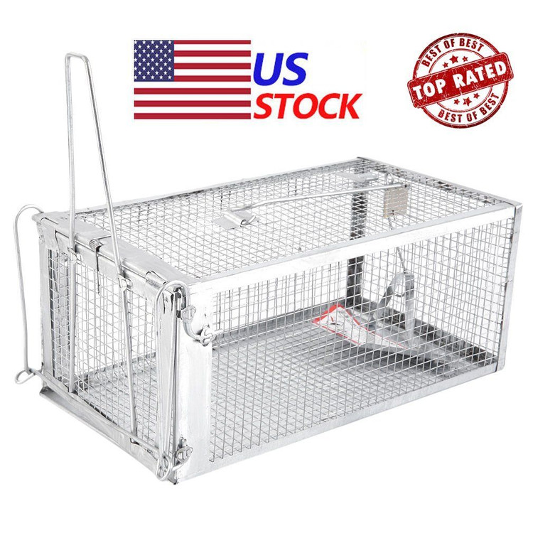 Animal Trap Cage, Rodent Animal Mouse Humane Live Trap Hamster Cage Rat Control Catch Bait Cage Control Catch Bait for Rat Squirrel