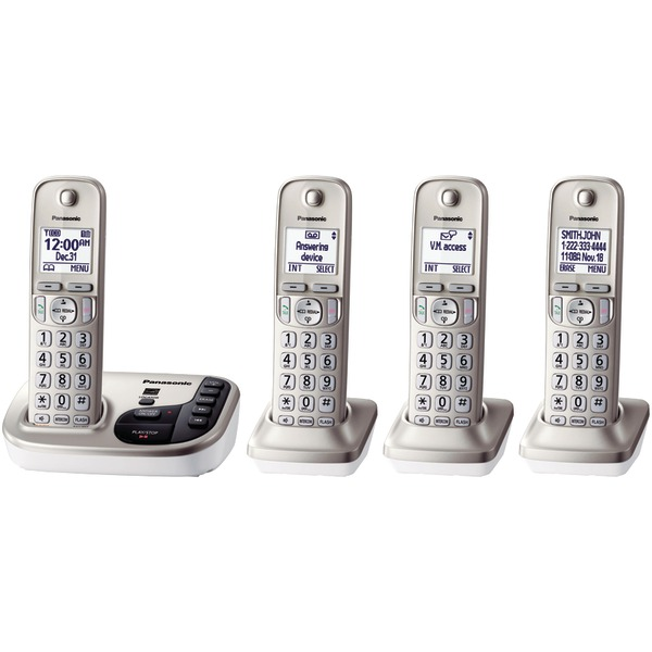PANASONIC KX-TGD224N DECT 6.0 Plus Expandable Digital Cordless Answering System (4-Handset System) by Panasonic