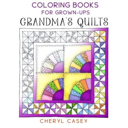 grandmas quilts coloring books for grown ups adults - Coloring Book For Grown Ups