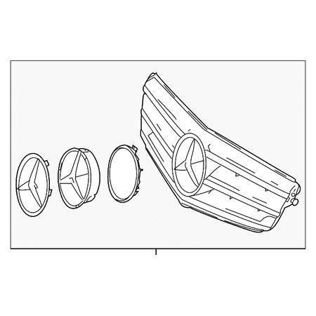 Genuine OE Mercedes-Benz Sports Grille Conversion Kit 204