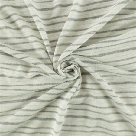 ac5efe135c6 Cream White/ Grey Sparkle Striped Slub Jersey Knit, Fabric By the Yard -  Walmart.com