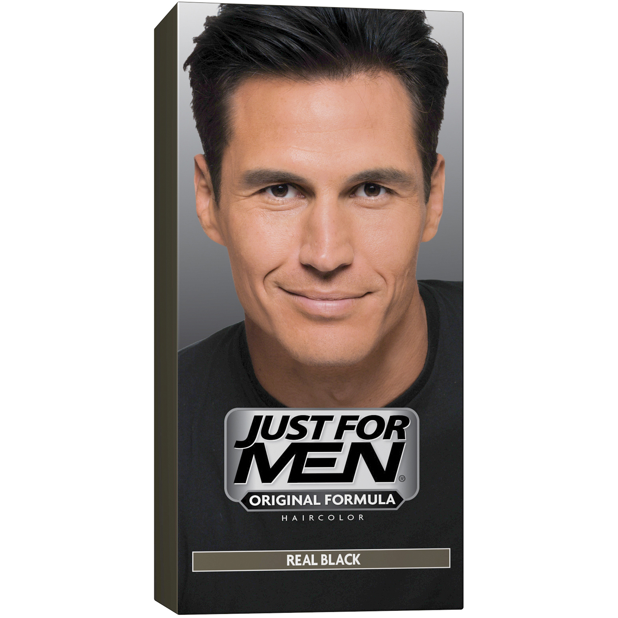 Just For Men Shampoo-In Hair Color Real Black, 1 Application, Pack ...
