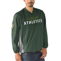 Oakland Athletics G-III Sports by Carl Banks Gridiron V-Neck Pullover Jacket - Green