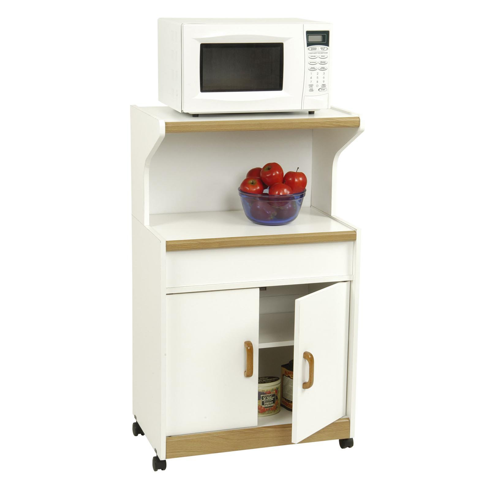 Superieur Microwave Cabinet With Shelves, White   Walmart.com