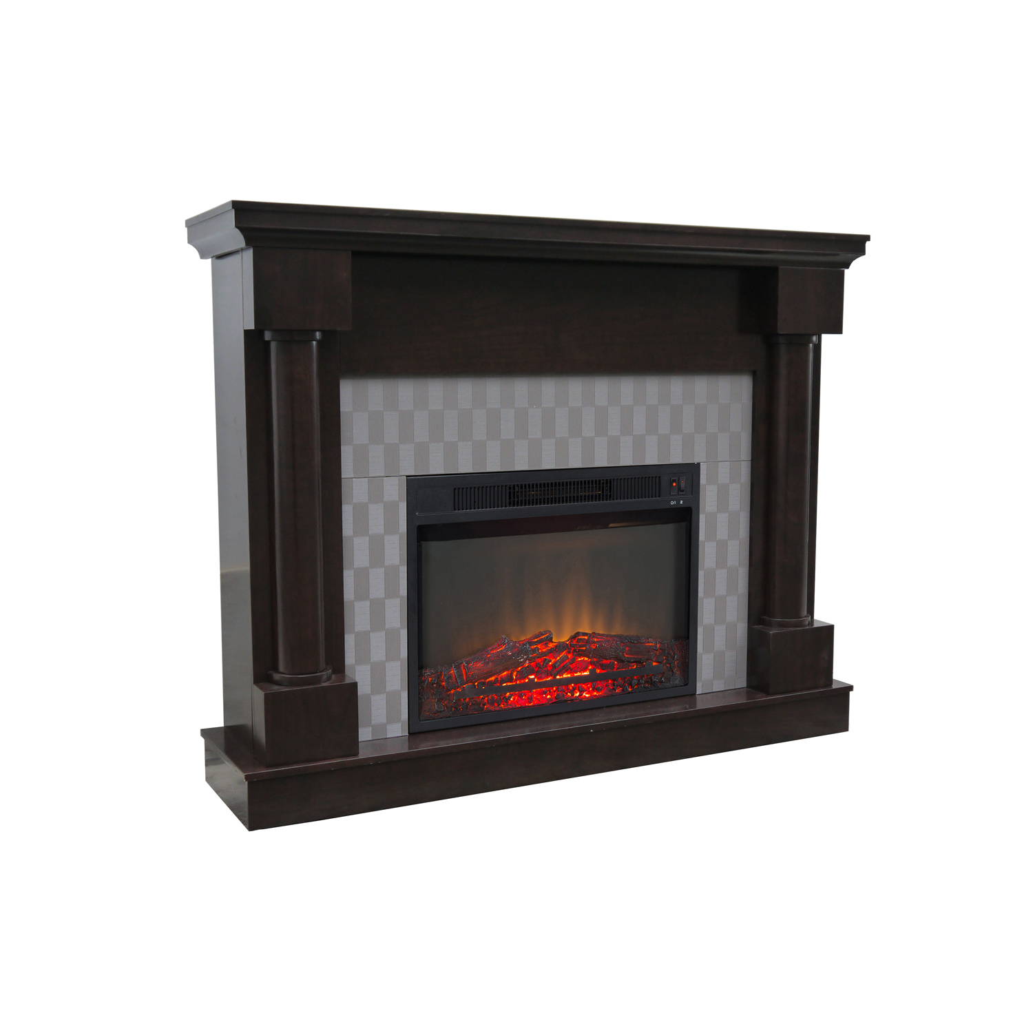 "Decor Flame Electric Fireplace with 48"" Mantle"
