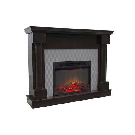 "Free Shipping. Buy Decor Flame Electric Fireplace with 48"" Mantle at Walmart.com"
