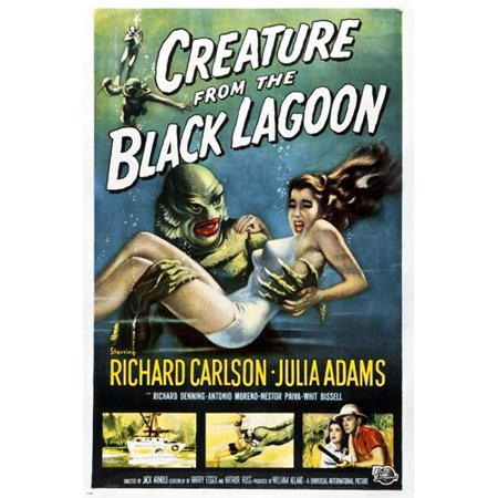 Classic Creature From The Black Lagoon Movie Poster Richard Carlson (Ricard Poster)